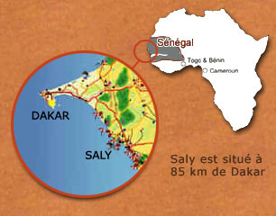 Carte localisation Saly